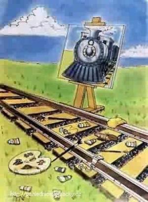 Dokonalá kresba železnice