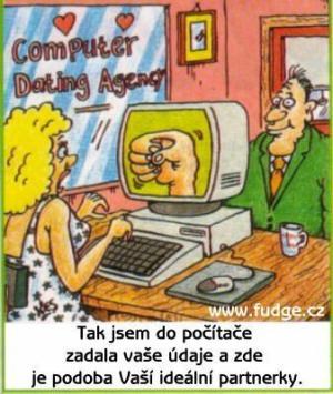 Ideální partnerka přes počítač