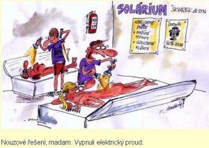 Solárium a elektrický proud