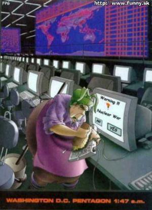 Počítač hlásí jadernou válku