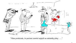 Pitva prokázala, že pacient zemřel..