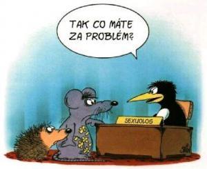 Myš a ježek mají problém