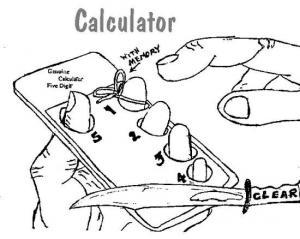 Kalkulátor vytvořený z lidské ruky