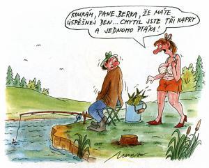 Rybář, který má svůj den