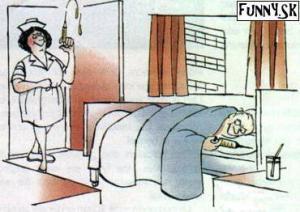 Když chce pacient překvapit sestřičku