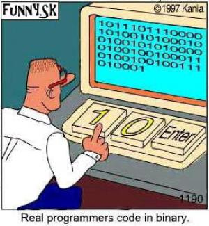 Jedničky a nuly na počítači