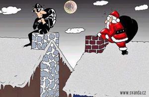 Když se potká Santa Claus se zlodějem