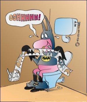 Jak vypadá toaleťák Batmana