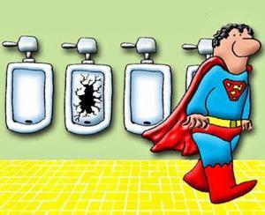 Když si jde superman odskočit na záchod