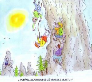 Strašlivý pád horolezců