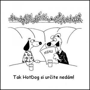 Psi v restauraci, kteří si nechtějí objednat HotDog
