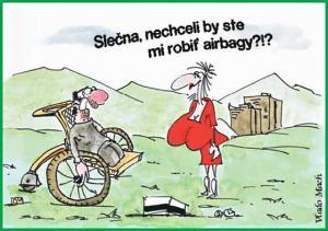 Pán na vozíčku by potřeboval airbagy