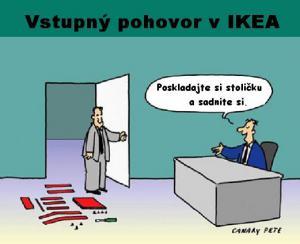 Vstupní pohovor v IKEA