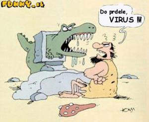 Pračlověka napadl virus