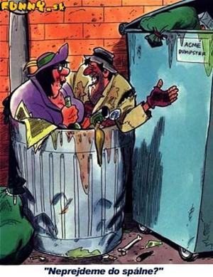 Dva feťáci v odpadkovém koši