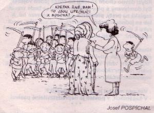 Jsou tu uprchlíci z Kosova