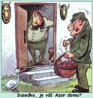 Sousede, je váš Azor doma?
