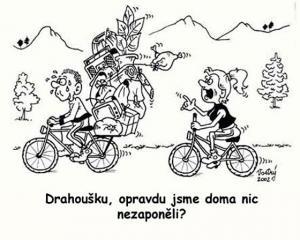 Když jedeš s manželkou na kolo