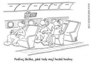 Neobyčejné hodiny v letadle