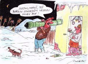 Jdu popřát sousedům šťastný nový rok