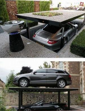 Luxusní dvoupatrové místo na parkování