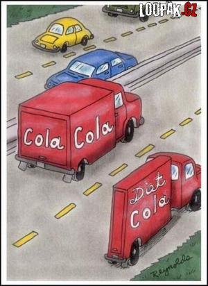 Coca cola vs. diet cola