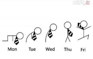 Jak vypadá student v průběhu týdne