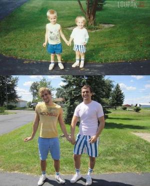 Fotografie z dětství vs. teď