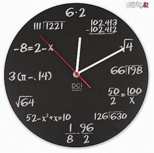 Jak vypadají matematické hodiny