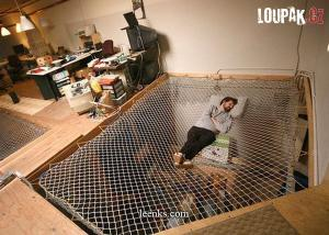 Moderní síťovaná postel