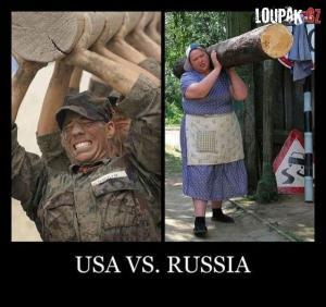 Jak vypadá síla v USA vs. v Rusku