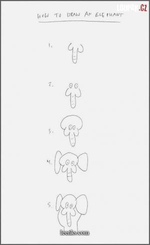 Návod na to, jak namalovat slona