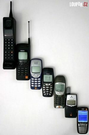 Jak šel za sebou vývoj telefonů