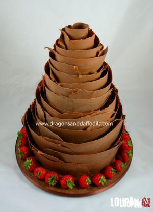 Luxusní čokoládový dort