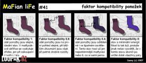 Faktor kompaktibility ponožek