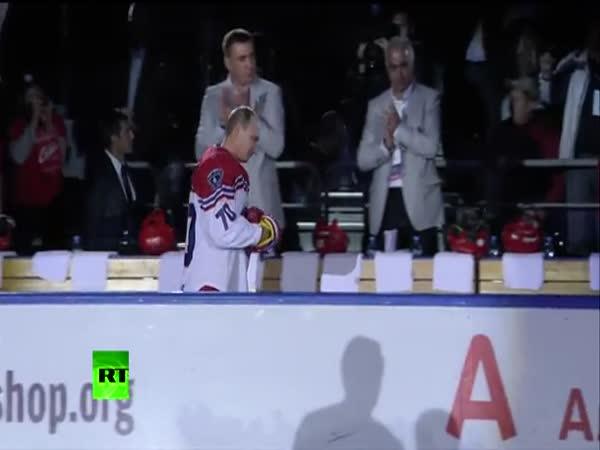 Putin jako hokejista