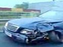 Mercedes na ruské silnici