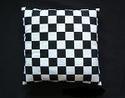 Optická iluze - šachovnicové plátno