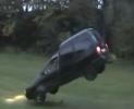 Skok s autem Volkswagen Caddy