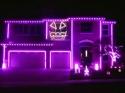 Světelná show - dům - Halloween