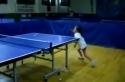 Stolní tenis - Šestiletá dívka