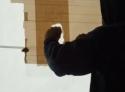 Borec - Obrazy tvořené balicí páskou