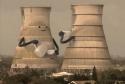 Destrukce chladících věží
