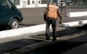 Oprava silnice v Rusku