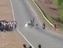 Bolestivý závod na motorkách