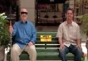 Nachytávka - čerstvě natřená lavička
