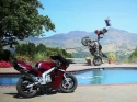 Borec na motorce Jorian Ponomareff - trénink