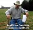 Otcův trest za status na Facebooku