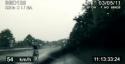 Policejní honička cyklisty na dálnici D1