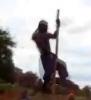 Africký tanečník s tyčí